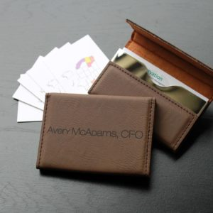 Leather Business Card Holder | Avery Mcadams