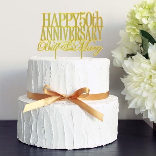 Wedding Cake Topper   50th Anniversary