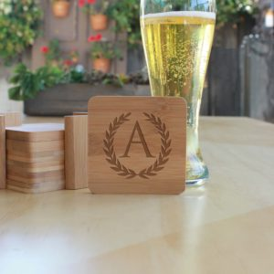 Personalized Bamboo Coasters | A Reef
