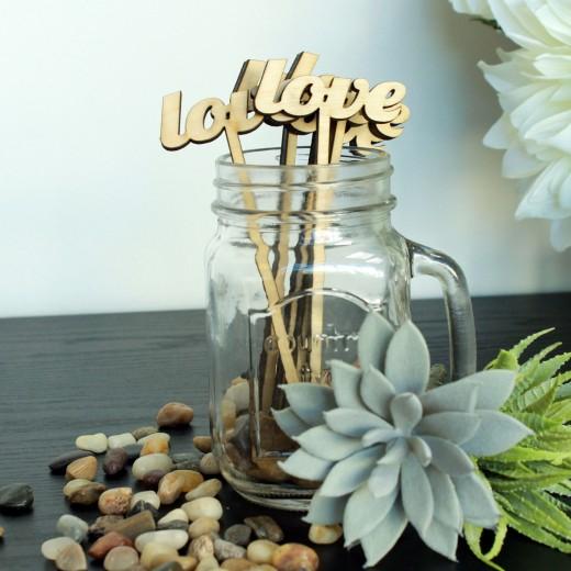 Love | Drink Stir Sticks