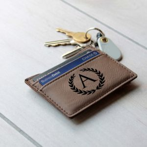 A Monogram | Leather Money Clip Wallet