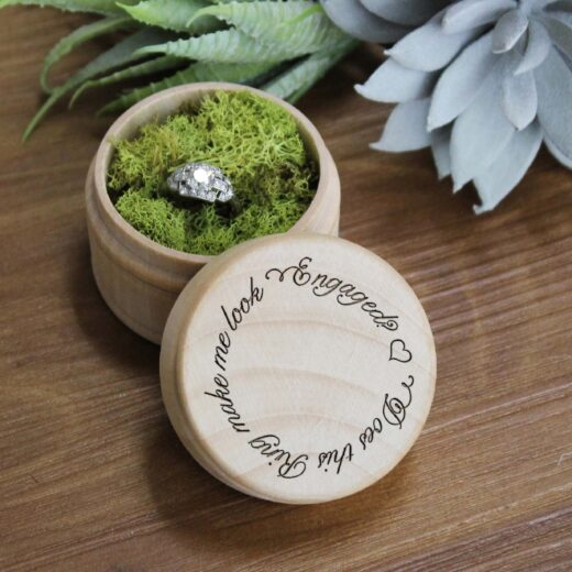 Personalized Wood Ring Box | Does This Ring
