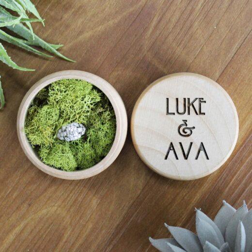 Personalized Wood Ring Box | Luke Ava