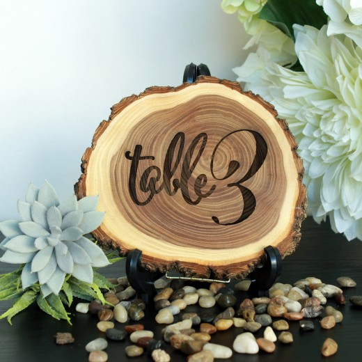 Rustic | Wood Log Table Sign