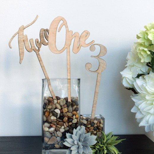 Number Stems | Wood Table Number Signs