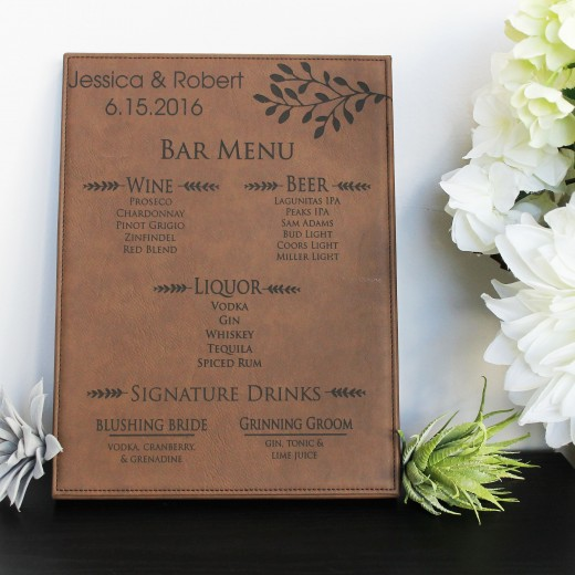 Jessica Robert | Leather Bar Menu Sign