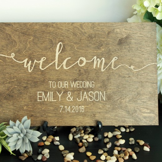 Welcome | Walnut Wedding Sign