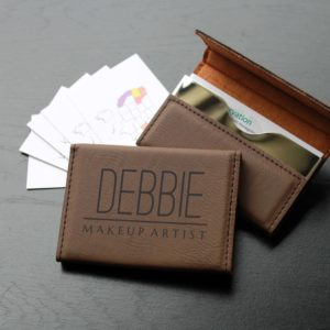 Leather Business Card Holder | Debbie