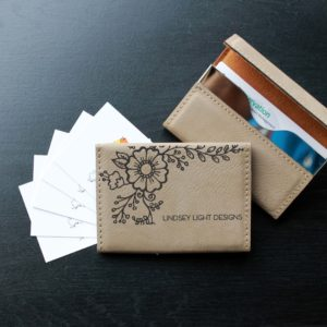 Leather Business Card Holder | Lauren Light Designs