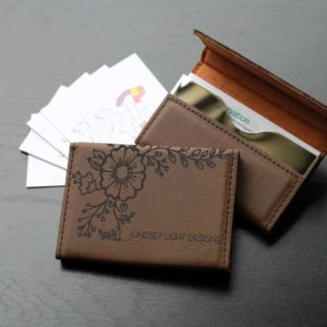 Leather Business Card Holder | Lindsey Light Designs