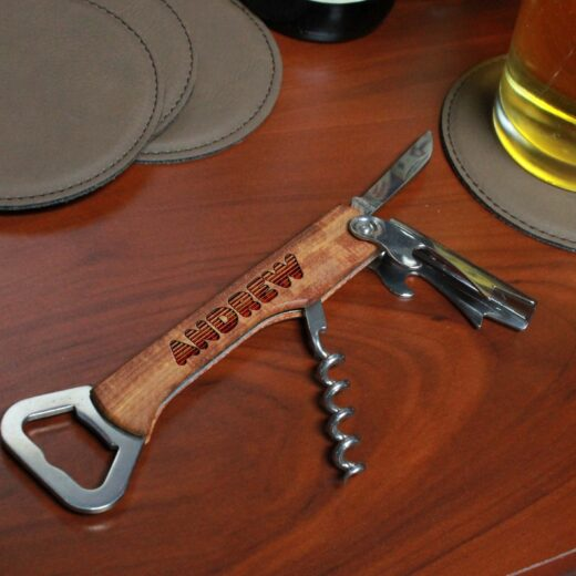 Wood Corkscrew Bottle Opener | Andrew
