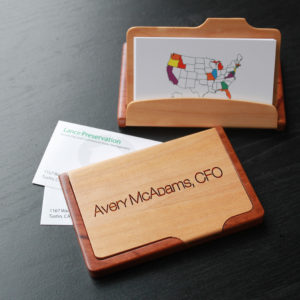 Personalized Wood Business Card Holder | Avery Mcadams