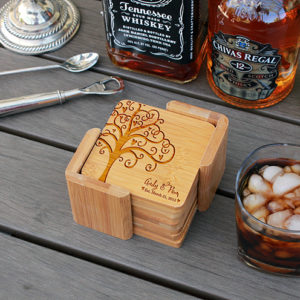 Andy Pam | Personalized Bamboo Coasters