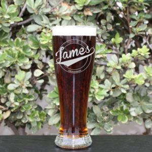 Personalized Pilsner Glass | James