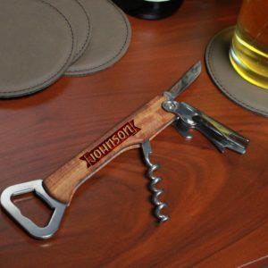 Wood Corkscrew Bottle Opener | Johnson