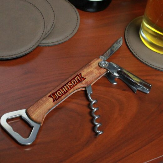 Wood Corkscrew Bottle Opener | Johnson
