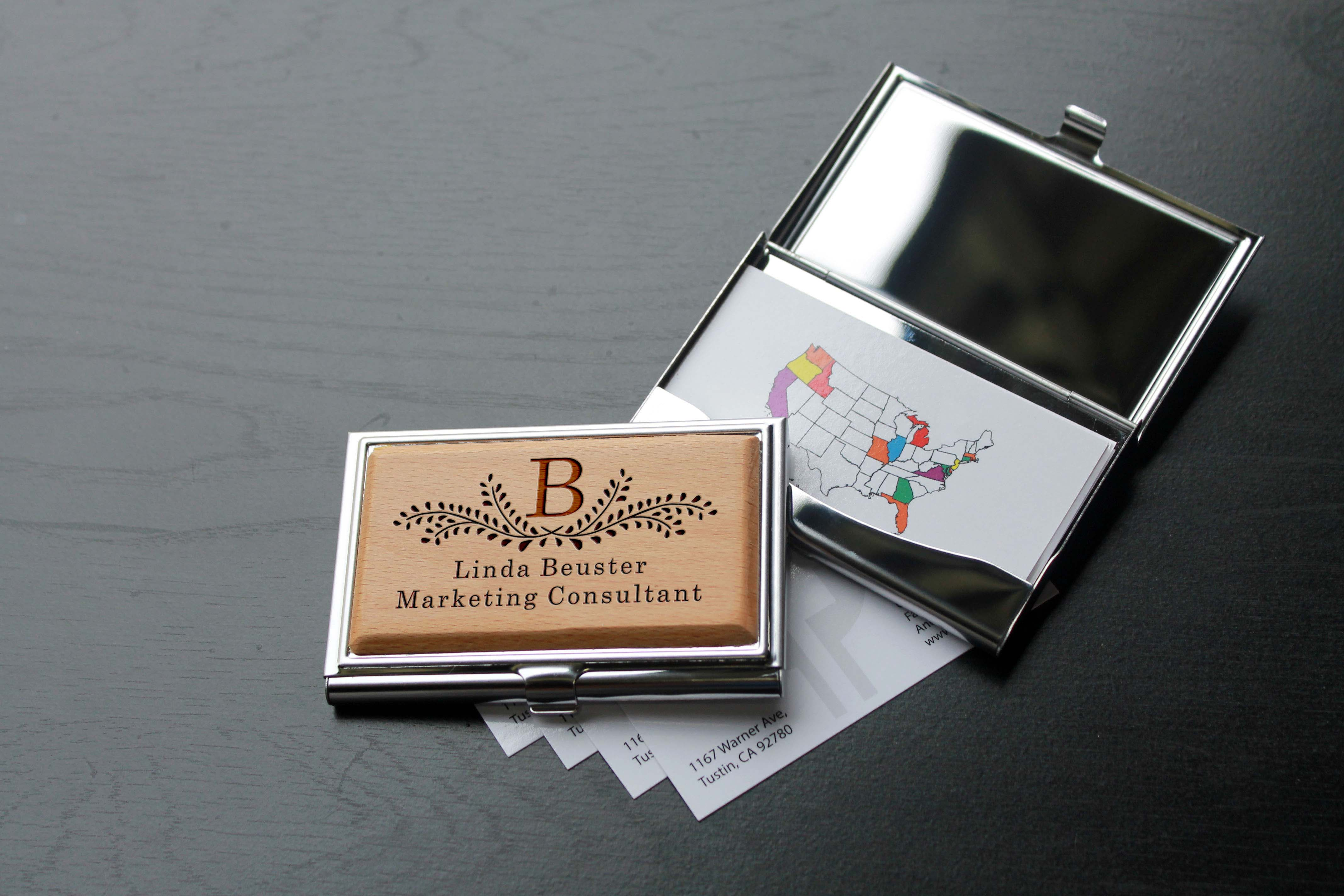 inspirational photos of silver business card holder business