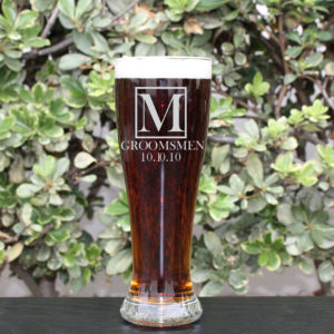 Personalized Pilsner Glass | M Groomsmen