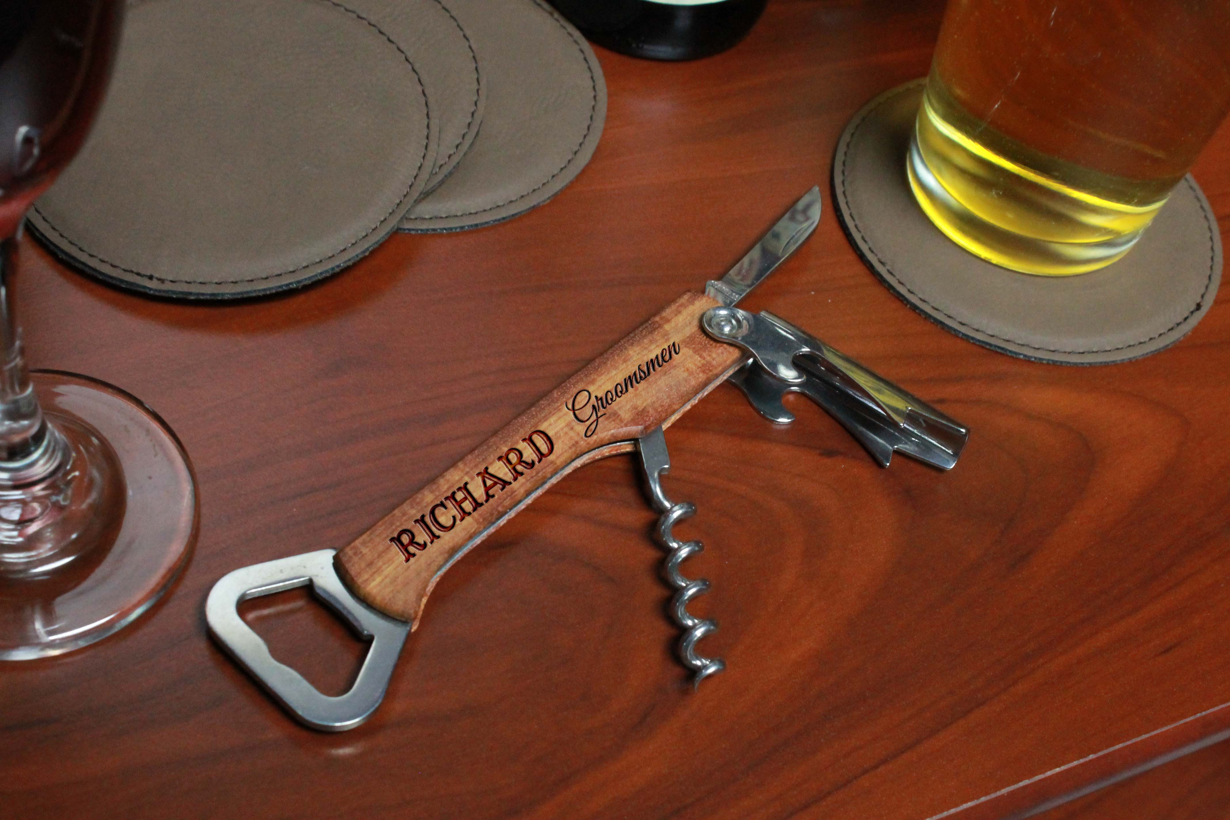 Wood Corkscrew Bottle Opener | Richard