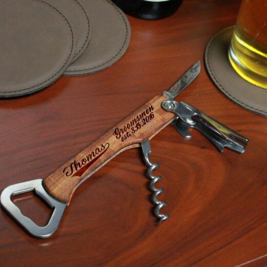 Wood Corkscrew Bottle Opener | Thomas
