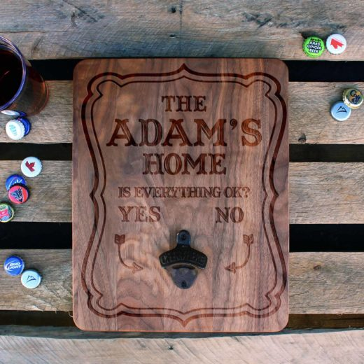Custom Wood Bottle Opener Board | Adam's Home