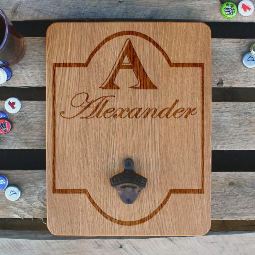 Custom Wood Bottle Opener Board | Alexander