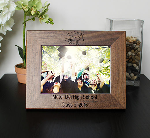 Personalized Graduation Picture Frame | Scroll And Cap