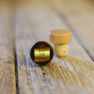 Lot of Personalized Wine Stopper Dark | Gold Annies 60th