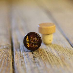Lot of Personalized Wine Stopper Dark | Bridal Shower