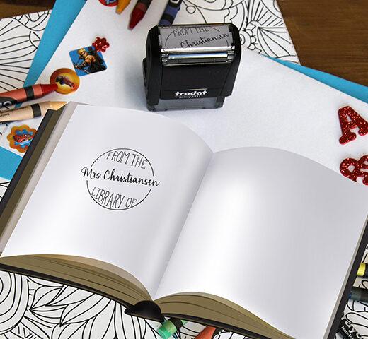 Personalized Teacher Self Ink Stamp   Christiansen