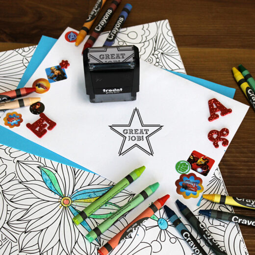 Personalized Teacher Self Ink Stamp   Great Job