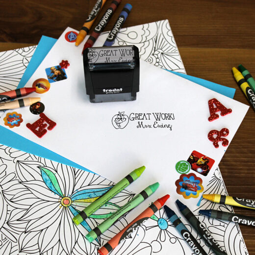 Personalized Teacher Self Ink Stamp   Ewing