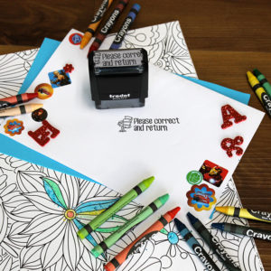 Personalized Teacher Self Ink Stamp | HW Book