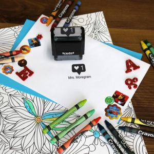 Personalized Teacher Self Ink Stamp | Instagram