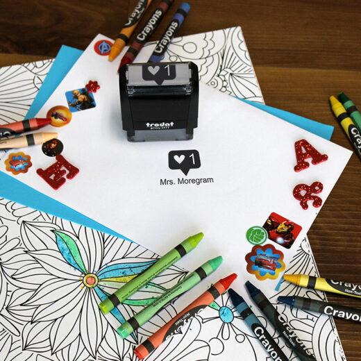 Personalized Teacher Self Ink Stamp   Instagram