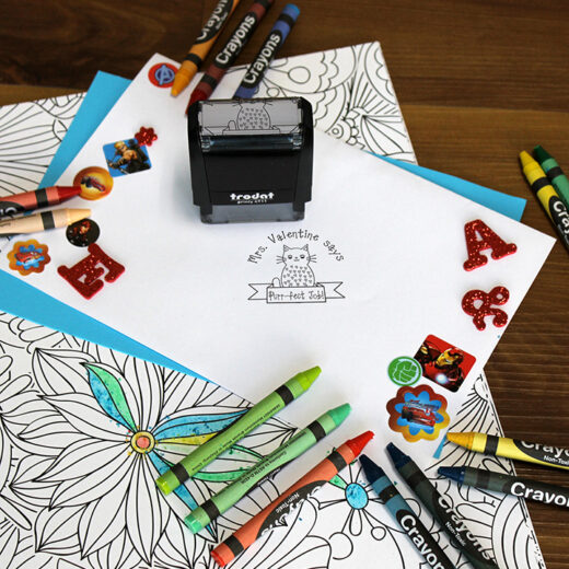 Personalized Teacher Self Ink Stamp | Mrs Valentine