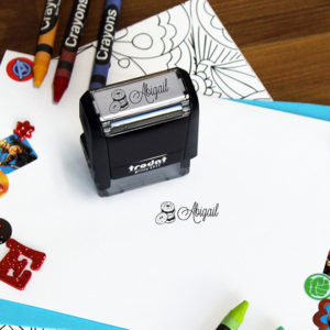 Personalized Kids Self Ink Stamp   Abigail