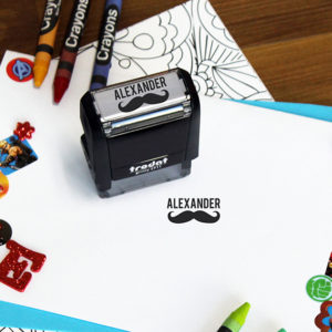 Personalized Kids Self Ink Stamp   Alexander