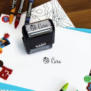 Personalized Kids Self Ink Stamp   Cara