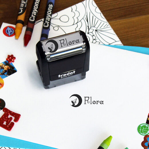 Personalized Kids Self Ink Stamp | Flora