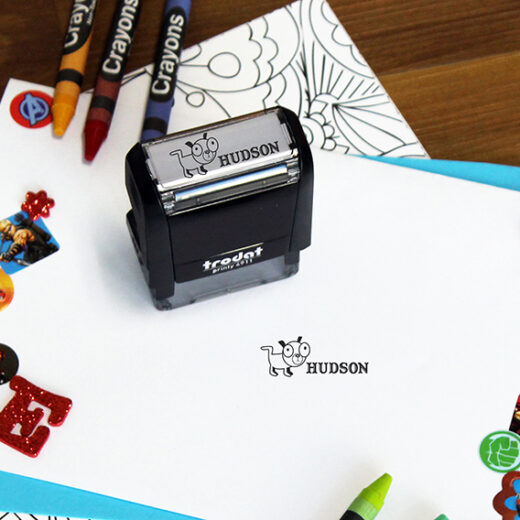 Personalized Kids Self Ink Stamp | Hudson
