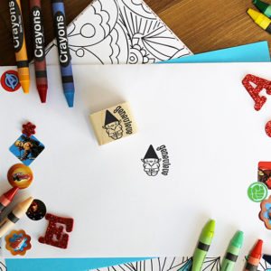 Personalized Kids 1x1 Wood Block Stamp   Genevieve