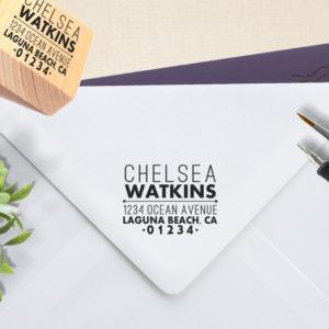 Chelsea Watkins | Custom Rubber Wood Mount Stamp