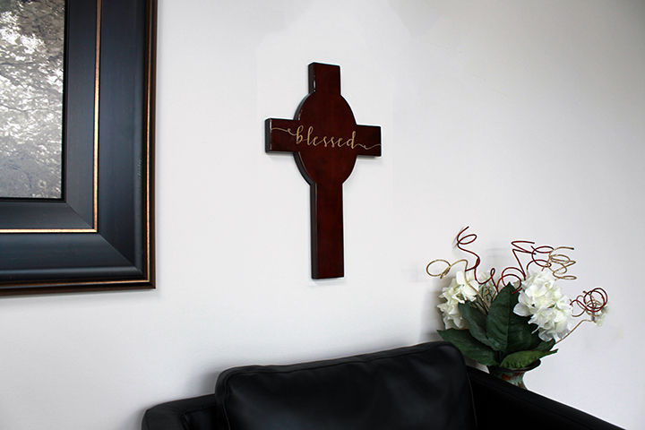 Personalized Wood Cross | Blessed