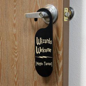 Personalized Door Knob Sign | Wizard