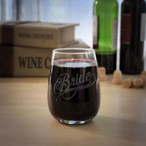Personalized Wine Glasses | Bride