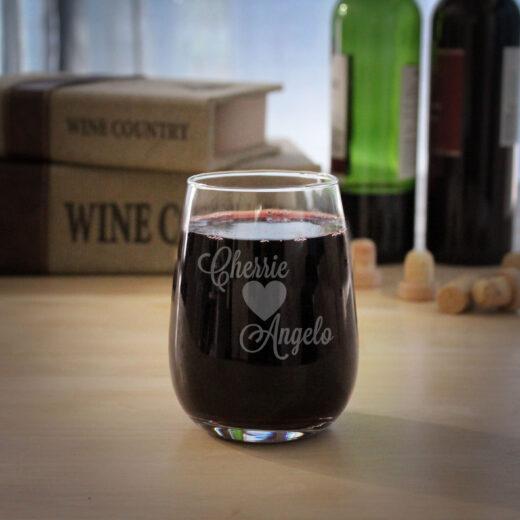 Personalized Wine Glasses | Cherrie Angelo