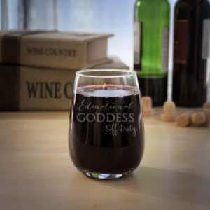 Personalized Wine Glasses   Goddess