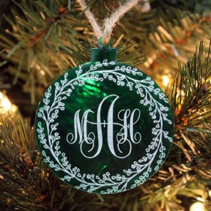 Personalized Christmas Ornaments | Monogram