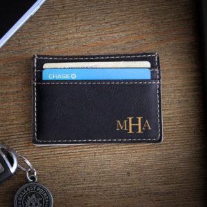 Leather Money Clip Wallet   MHA